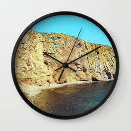 The Rock in the Sea Wall Clock