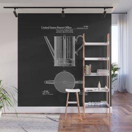 Coffee Press Patent - Black Wall Mural