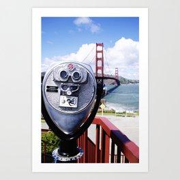 Golden Gate from a viewfinder Art Print