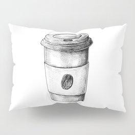 Coffee To Go Hand Drawn Pillow Sham