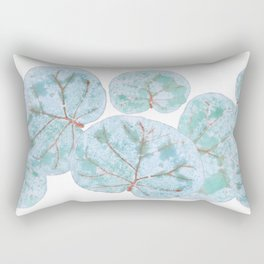 Sea Grape Tropical Leaves Rectangular Pillow