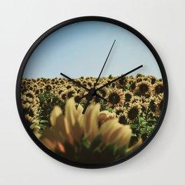 vintage sunflowers Wall Clock