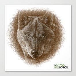Brown Wolf Canvas Print