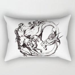 Fox and Dragon Rectangular Pillow
