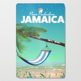 'Pure Paradise' Jamaica travel poster Cutting Board