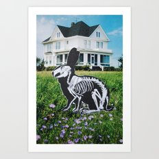 Bunny Bones Art Print
