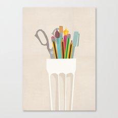 Pencil Pot Canvas Print