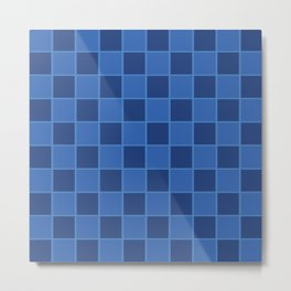 Squared Blue Metal Print