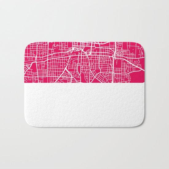 Greensboro map raspberry Bath Mat