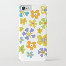 Whimsical Colorful Flowers iPhone Case