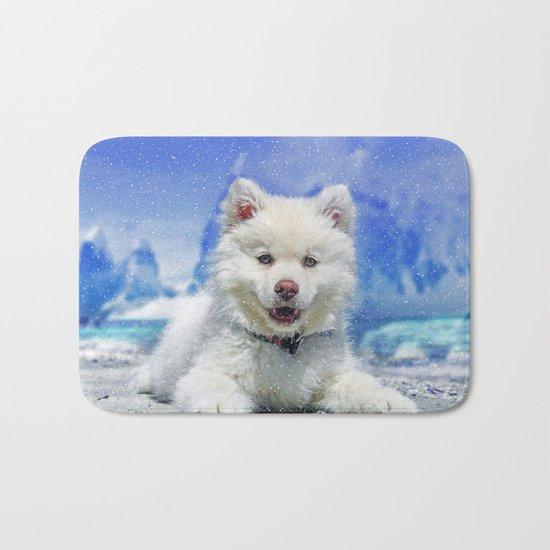 Winter Snowdog Bath Mat