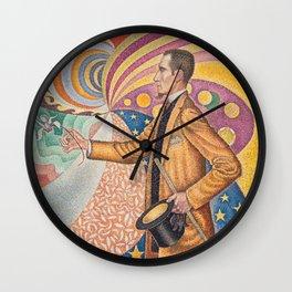 Paul Signac - Pointillist Portrait of Félix Fénéon Wall Clock