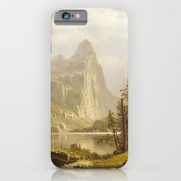 Merced River Yosemite Valley 1866 By Albert Bierstadt | Reproduction Painting iPhone Case
