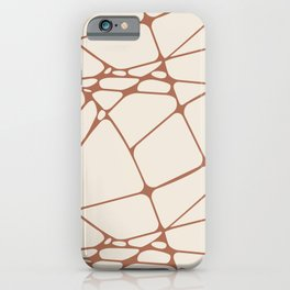 Cavern Clay SW 7701 Abstract Mosaic Pattern 1 on Creamy Off White SW7012 iPhone Case