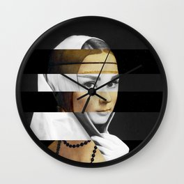 Leonardo da Vinci's Lady with a Ermine & Audrey Hepburn Wall Clock