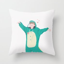 Jimin the Dinosaur Throw Pillow