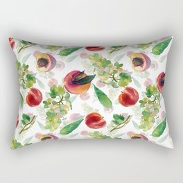 grapes and peaches Rectangular Pillow