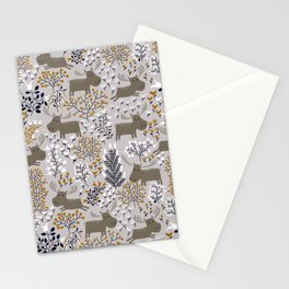 Moose Forest Pattern Stationery Cards