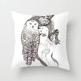 NightOwl Throw Pillow