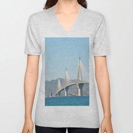 Rio Antirrio Bridge Unisex V-Neck