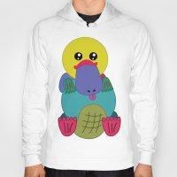 platypus Hoodies featuring Rainbow Platypus by Joy Deits