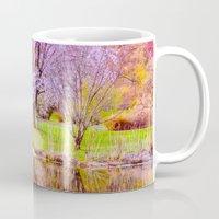 arnold Mugs featuring Spring at Arnold Arboretum by LudaNayvelt