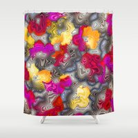 psychedelic Shower Curtains featuring Psychedelic by Pat Giancontieri -Artzlady-