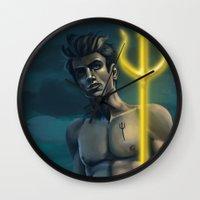 percy jackson Wall Clocks featuring Percy Jackson by BBANDITT