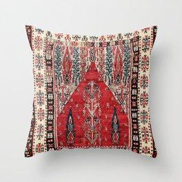 Erzurum  Antique East Anatolian Niche Kilim Print Throw Pillow