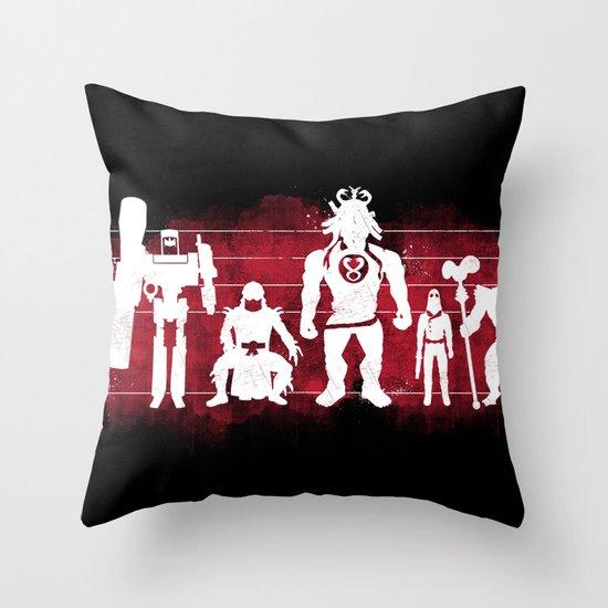Plastic Villains  Throw Pillow