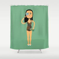 astrology Shower Curtains featuring Fashion Icon: Astrology by Mouki K. Butt