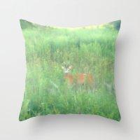bambi Throw Pillows featuring BAMBI by Magdado