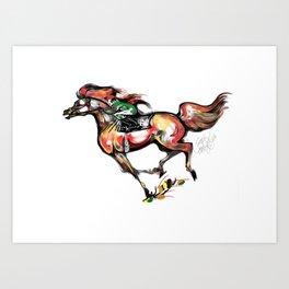Arabian Race Horse Art Print
