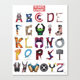 The ABC of the MCU - Vertical Canvas Print