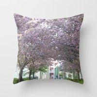 vienna Throw Pillows featuring amidst Vienna by MehrFarbeimLeben