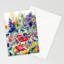 Spring Flowers Watercolour Stationery Cards