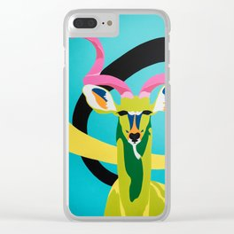 Kudu in Color Clear iPhone Case