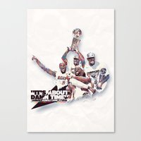 nba Canvas Prints featuring Lebron//NBA Champion 2012 by Largetosti