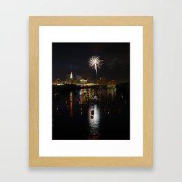 Hartford, CT Fireworks Framed Art Print
