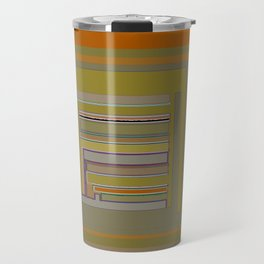 Anomaly in Brown Stripes graphic design Travel Mug