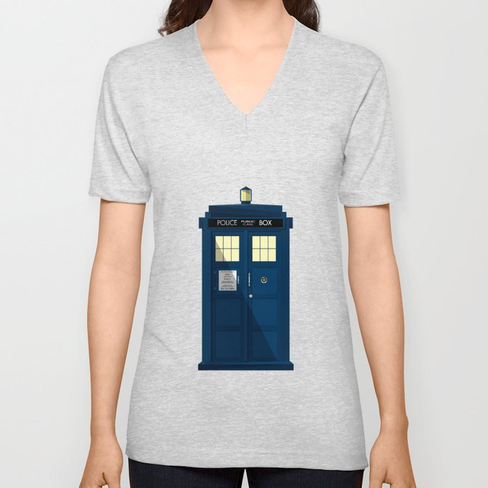 The TARDIS Unisex V-Neck