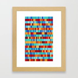 Bach Invention (Fire and Iceberg Colours) Framed Art Print