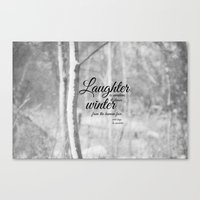 les miserables Canvas Prints featuring Les Miserables Quote Winter by KimberosePhotography