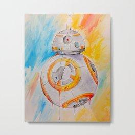 BB8 watercolor painting Metal Print