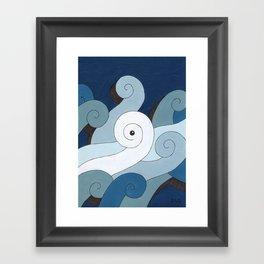 Mono Pattern | The Waves Framed Art Print