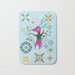 Happy Dog Card Bath Mat