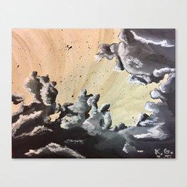 Unfurling Smoke Canvas Print