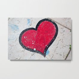 Pavement Heart Metal Print