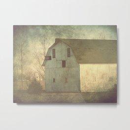 An Iowa Barn Metal Print