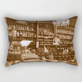 Vintage Apothecary Rectangular Pillow